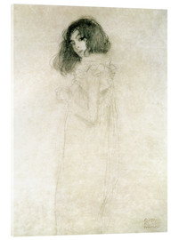 Akrylglastavla  Portrait of a young woman - Gustav Klimt