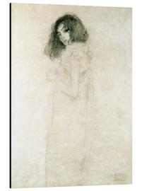 Aluminiumtavla  Portrait of a young woman - Gustav Klimt