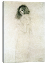 Canvastavla  Portrait of a young woman - Gustav Klimt