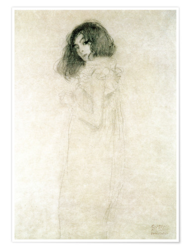 Premiumposter Portrait of a young woman