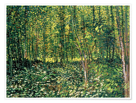 Premiumposter  Trees and Undergrowth - Vincent van Gogh