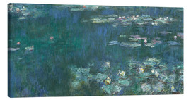 Canvastavla  Water Lilies, Green Reflections 2 - Claude Monet