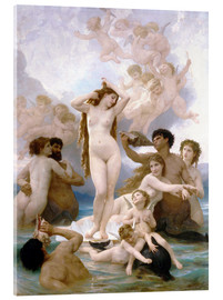 Akrylglastavla  Venus födelse - William Adolphe Bouguereau