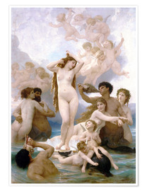 Premiumposter  Venus födelse - William Adolphe Bouguereau