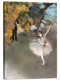 Canvastavla  The Star (Dancer on Stage) - Edgar Degas