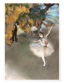 Premiumposter  The Star (Dancer on Stage) - Edgar Degas