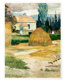 Premiumposter  Farm House in Arles - Paul Gauguin