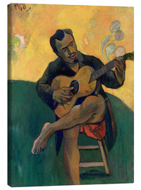 Canvastavla  The Guitar Player - Paul Gauguin