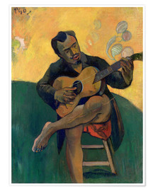 Premiumposter  The Guitar Player - Paul Gauguin