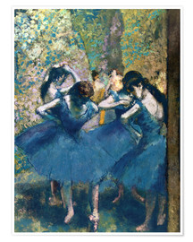 Premiumposter  The Blue Dancers - Edgar Degas