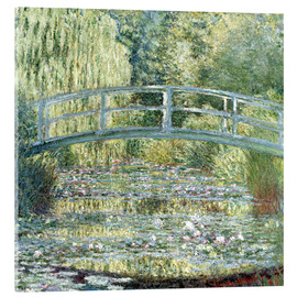 Akrylglastavla  water lily pond symphony in green - Claude Monet