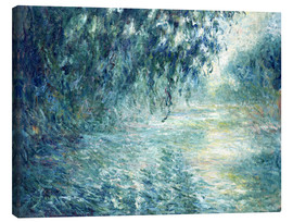 Canvastavla  Morning on the Seine - Claude Monet