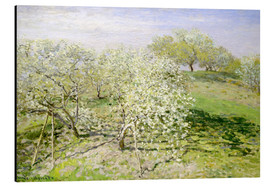 Aluminiumtavla  Spring (Fruit Trees in Bloom) - Claude Monet