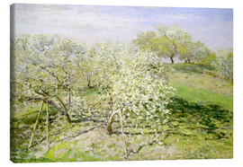 Canvastavla  Spring (Fruit Trees in Bloom) - Claude Monet