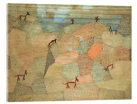 Akrylglastavla  Landscape with Donkeys - Paul Klee