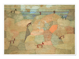Premiumposter  Landscape with Donkeys - Paul Klee