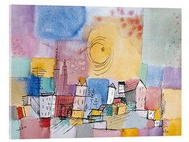 Akrylglastavla  German city - Paul Klee