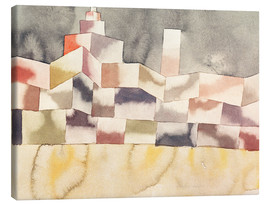 Canvastavla  Architecture in the Orient - Paul Klee
