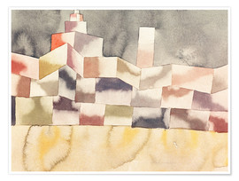 Premiumposter  Architecture in the Orient - Paul Klee