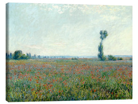 Canvastavla  Field with poppies - Claude Monet