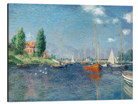 Aluminiumtavla  Red boats at Argenteuil - Claude Monet