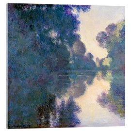 Akrylglastavla  Morning on the Seine - Claude Monet