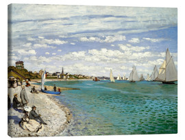 Canvastavla  Regatta at Sainte-Adresse - Claude Monet