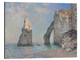 Aluminiumtavla  The rock face of Aval - Claude Monet