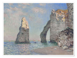 Premiumposter  The rock face of Aval - Claude Monet