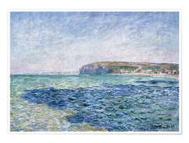 Premiumposter  shadows on the sea at Pourville - Claude Monet