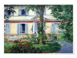 Premiumposter  Country house in Rueil - Edouard Manet
