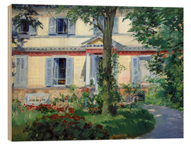 Trätavla  Country house in Rueil - Edouard Manet