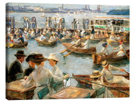 Canvastavla  By the Alster River - Max Liebermann