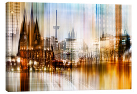 Canvastavla  Germany Collonge Köln skyline - Städtecollagen