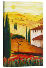 Canvastavla  Tuscan idyll 3 (brighter) - Christine Huwer