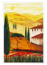 Premiumposter Tuscan idyll 3 (brighter)