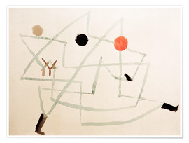 Premiumposter  Bewitched and hurry - Paul Klee