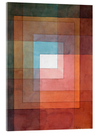 Akrylglastavla  White framed polyphonically - Paul Klee