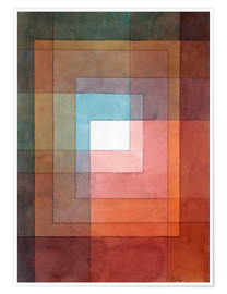 Poster  White framed polyphonically - Paul Klee