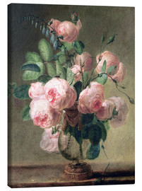 Canvastavla  Vase of Flowers - Pierre Joseph Redouté