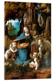 Akrylglastavla  The Virgin of the Rocks - Leonardo da Vinci