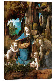 Canvastavla  The Virgin of the Rocks - Leonardo da Vinci