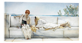 Akrylglastavla  A Question - Lawrence Alma-Tadema