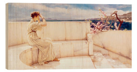 Trätavla  Expectations - Lawrence Alma-Tadema