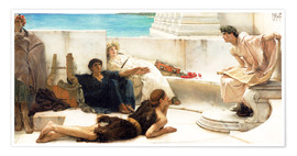 Premiumposter  A reading from Homer - Lawrence Alma-Tadema