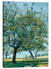 Canvastavla  Paddock with apple trees - Ferdinand Hodler