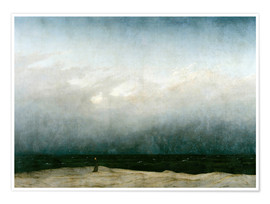 Premiumposter  Munken vid havet - Caspar David Friedrich