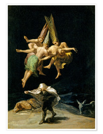 Premiumposter  Witches' flight - Francisco José de Goya