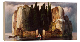 Trätavla  The Isle of the Dead - Arnold Böcklin