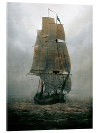 Akrylglastavla  Sailing ship in the fog - Caspar David Friedrich